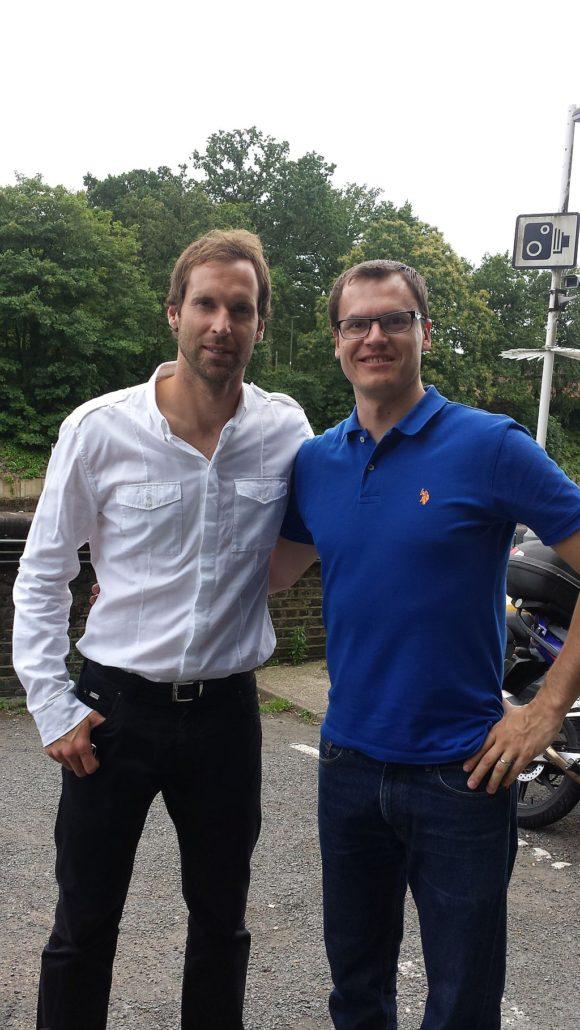MM s Petrem Čechem v Londýně